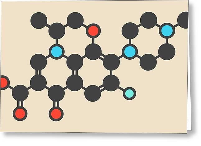 Levofloxacin Antibiotic Drug Molecule Greeting Card by Molekuul