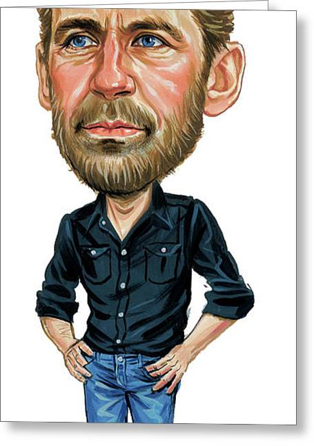 Levon Helm Greeting Card by Art