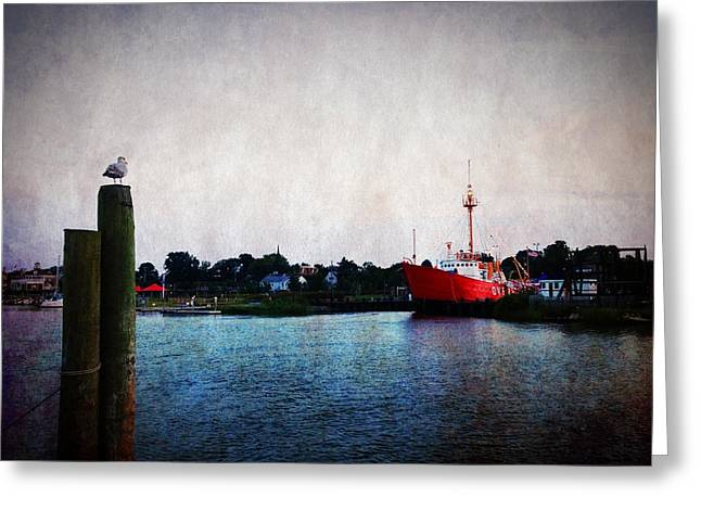 Lewes - Overfalls Lightship 2 Greeting Card by Richard Reeve
