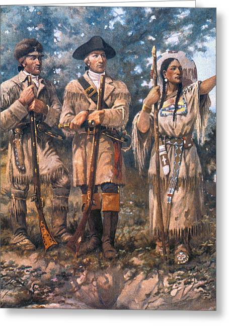 Lewis And Clark, 1805 Greeting Card by Granger