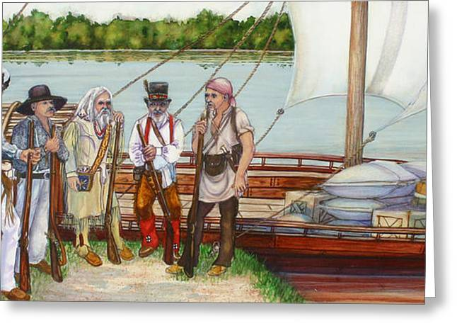Lewis And Clark Greeting Card by Beth Gramith