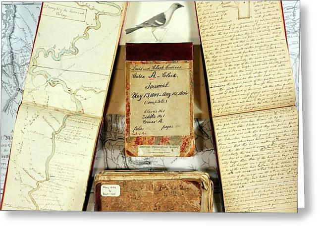 Lewis And Clark Expedition Journals Greeting Card by American Philosophical Society