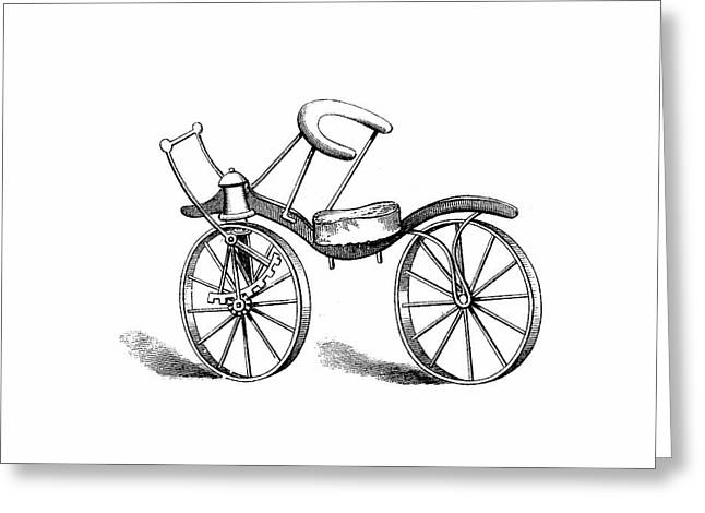 Lewis Gompertz's Bicycle Greeting Card by Universal History Archive/uig