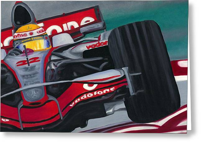 Lewis Hamilton F1 World Champion 2008 Greeting Card