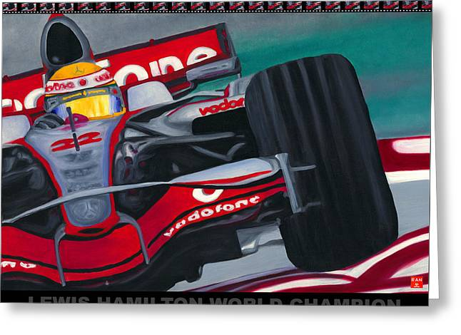 Lewis Hamilton F1 World Champion Pop Greeting Card