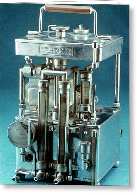 Lewis Intratracheal Apparatus Greeting Card by Science Photo Library