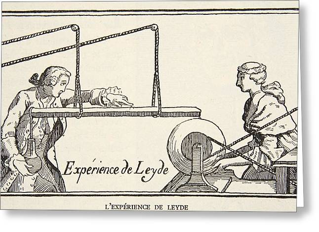 Leydes Experiment, Copy By Boris Greeting Card