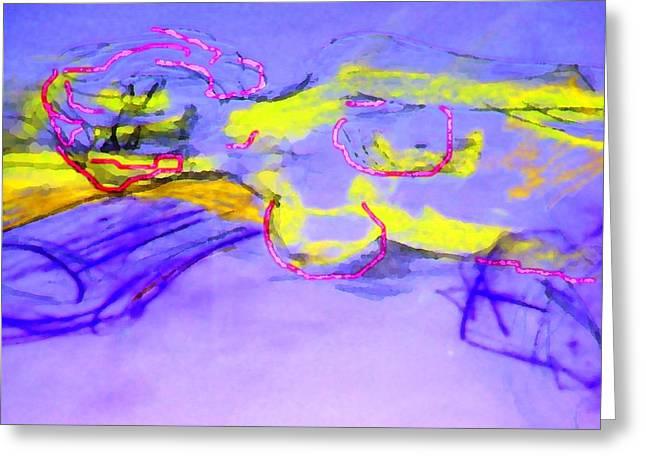 Leyla -purple Dream Greeting Card