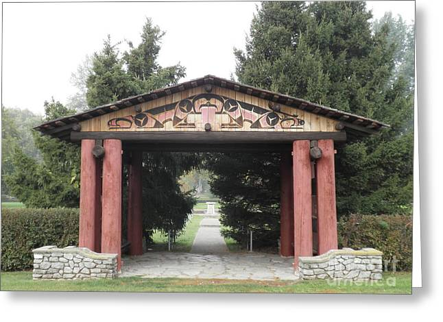Lheit-li Nation Burial Grounds Entrance Greeting Card