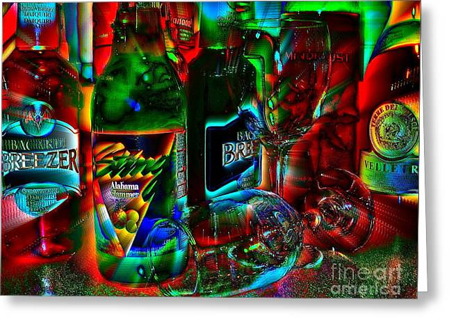Greeting Card featuring the photograph Libations by Linda Bianic
