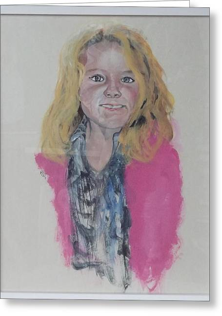Libby Greeting Card by Peter Edward Green