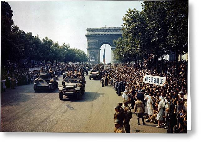 Liberation Of Paris Greeting Card by Celestial Images