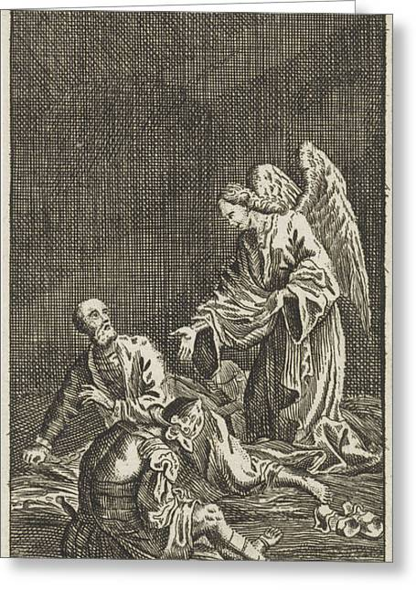 Liberation Of Peter From Prison, Jan Luyken Greeting Card by Jan Luyken And Anonymous