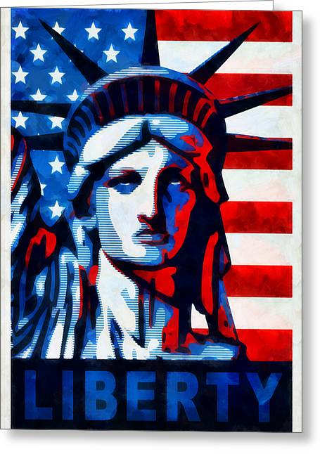 Liberty 1 Greeting Card