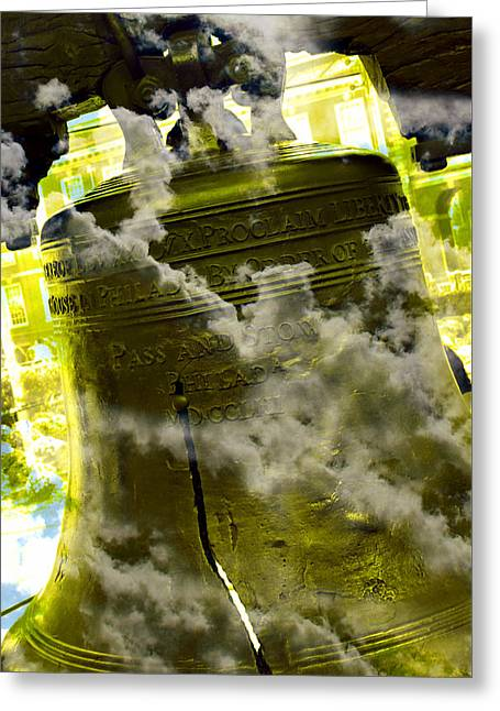 Liberty Bell 3.2 Greeting Card by Stephen Stookey