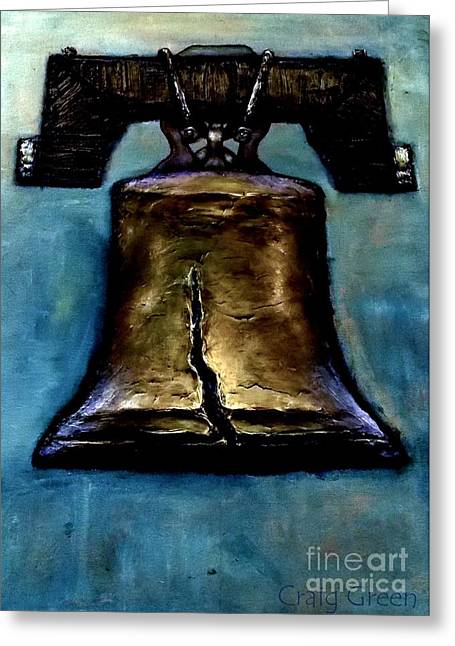 Liberty Bell Greeting Card by Craig Green