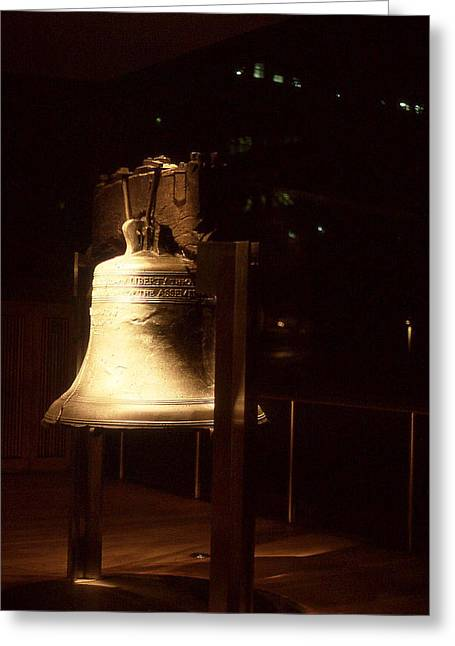 Liberty Bell Greeting Card by Hector  Valentin