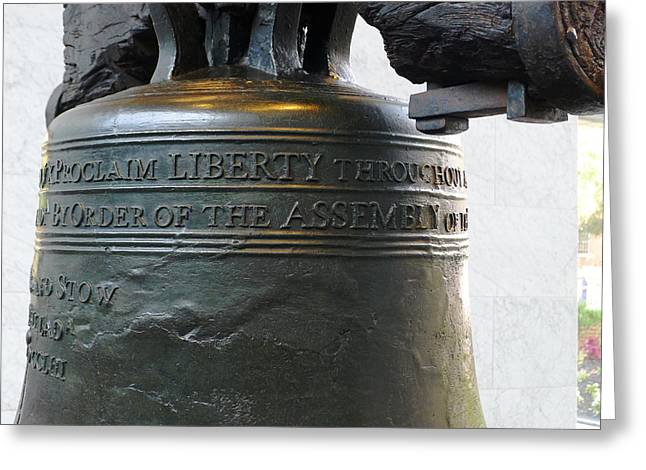 Liberty Bell Greeting Card by Richard Reeve