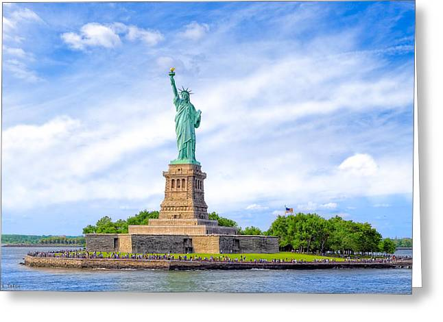 Greeting Card featuring the photograph Liberty Enlightening The World - New York City by Mark E Tisdale