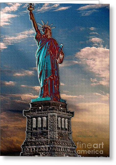 Greeting Card featuring the photograph Liberty For All by Luther Fine Art