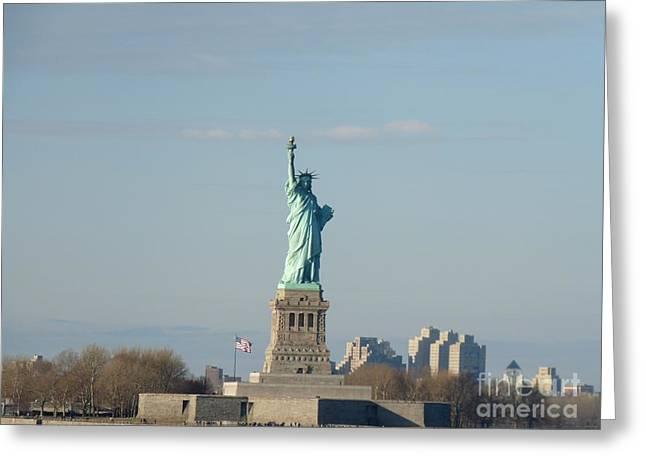 Liberty Herself Greeting Card by Julie Koretz