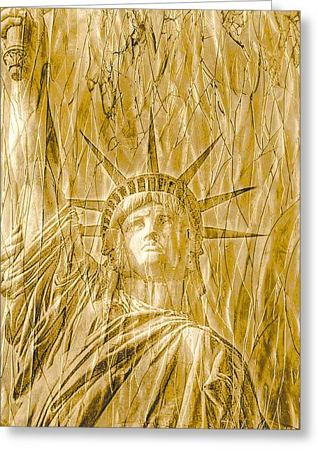 Greeting Card featuring the photograph Liberty Is Golden by Dyle   Warren