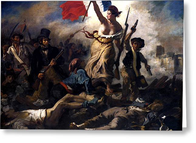 Liberty Leading The People During The French Revolution Greeting Card