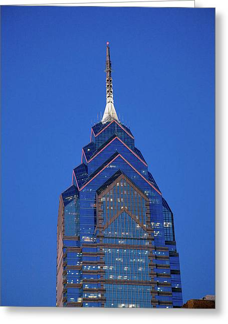 Liberty Place Skyscrapper At Dusk Greeting Card
