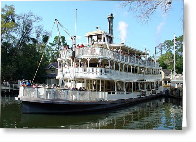 Greeting Card featuring the photograph Liberty Riverboat by David Nicholls
