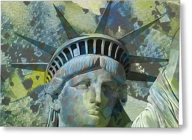 Liberty Statue I Greeting Card