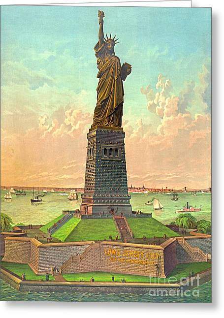 Liberty With Advertisement 1883 Greeting Card