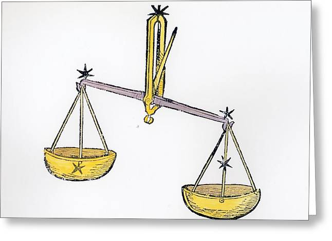 Libra An Illustration From The Poeticon Greeting Card by Italian School