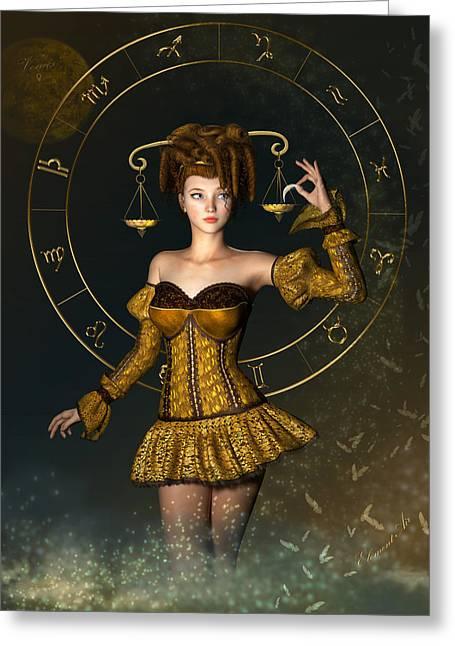 Libra Zodiac Sign Greeting Card