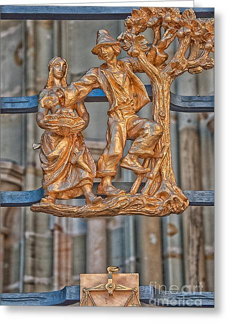 Libra Zodiac Sign - St Vitus Cathedral - Prague Greeting Card by Ian Monk