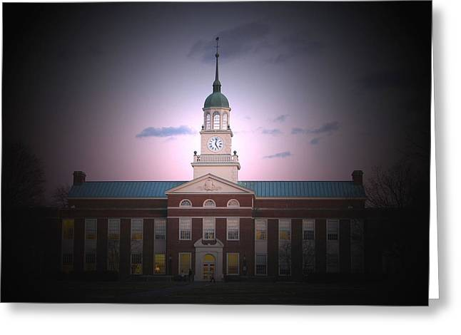 Library At Night Greeting Card by Ronald Fleischer
