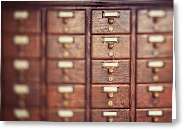 Greeting Card featuring the photograph Library Case by Heather Green