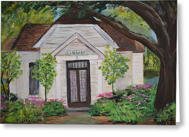 Library Greeting Card by Debbie Baker