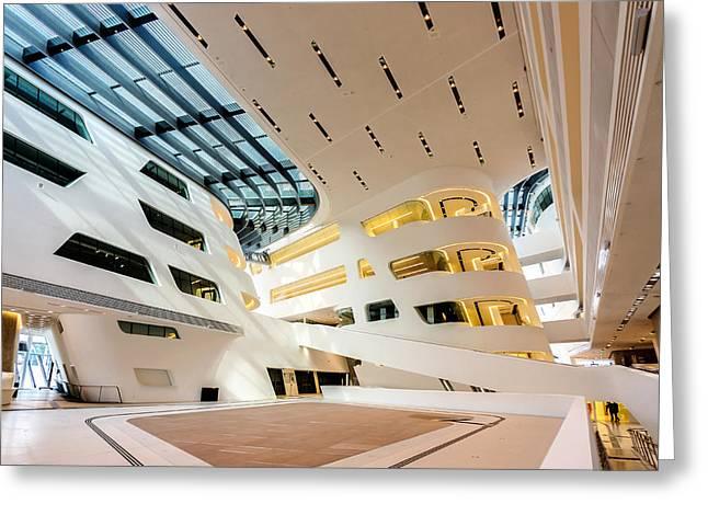 Library Interior 2  Zaha Hadid Wu Campus Vienna  Greeting Card