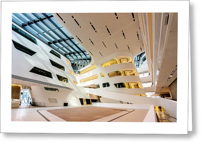 Library Interior 2  Zaha Hadid Wu Campus Vienna  Greeting Card