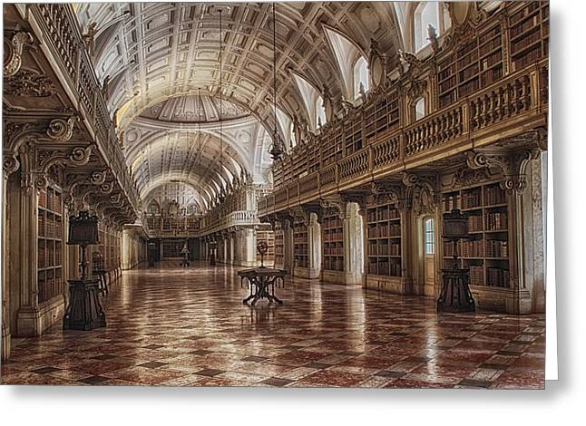 Library Mafra Greeting Card by Taylor Moore