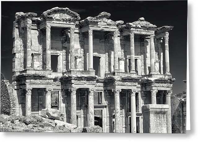 Library Of Celsus Ruins At Ephesus Greeting Card