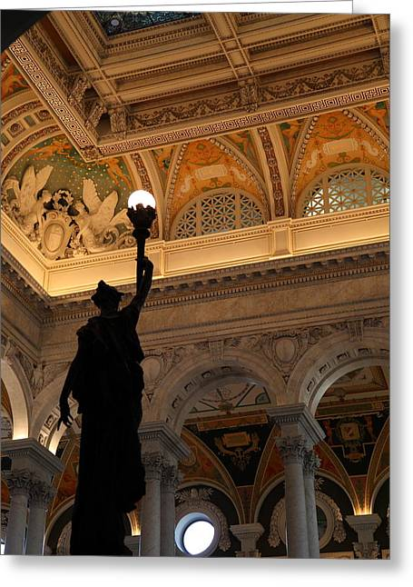 Library Of Congress - Washington Dc - 01134 Greeting Card by DC Photographer