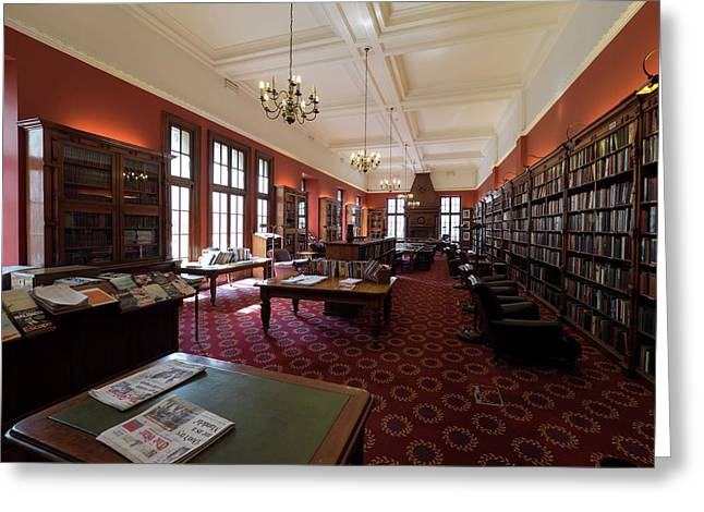 Library Of The Rand Club, Loveday Greeting Card