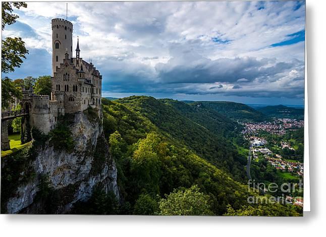Lichtenstein Castle - Baden-wurttemberg - Germany Greeting Card by Gary Whitton