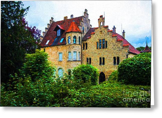Lichtenstein Castle - Manor House - Germany Greeting Card by Gary Whitton