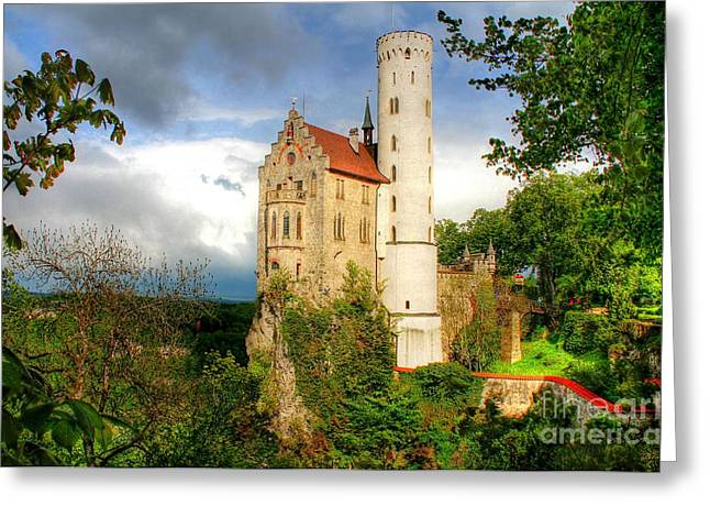 Lichtenstein Castle Swabian Alb Germany Greeting Card