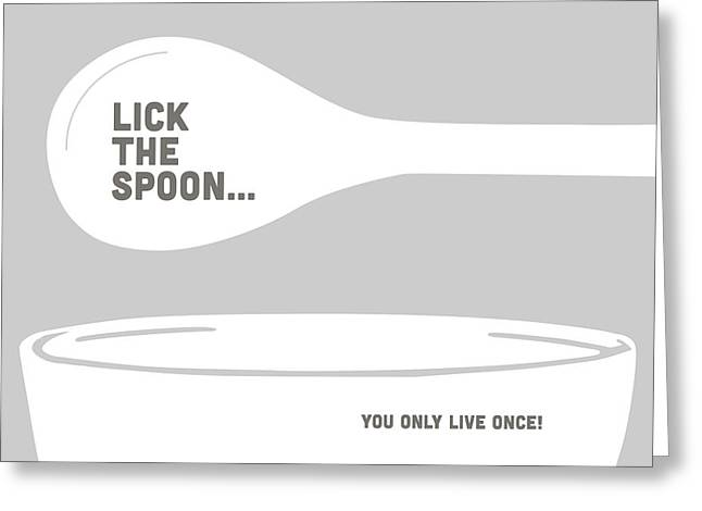 Lick The Spoon And Bowl Greeting Card