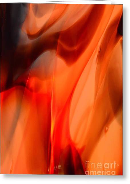 Licking Flame Greeting Card by Lauren Leigh Hunter Fine Art Photography