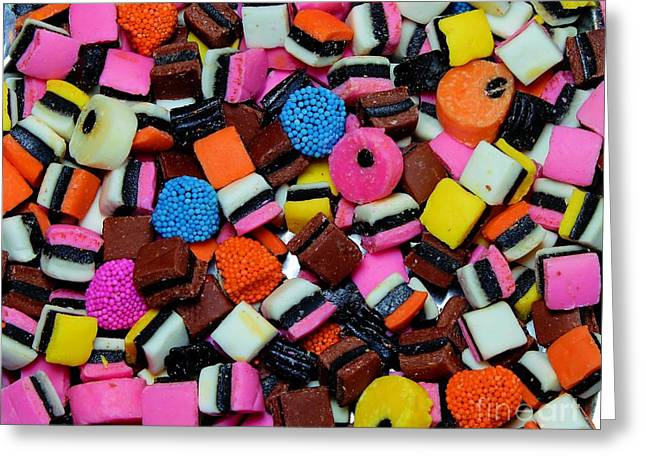 Licorice - Candy - Sweets - Treats Greeting Card by Barbara Griffin