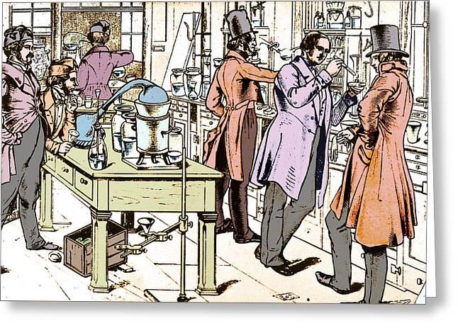 Liebigs Laboratory At Giessen, 1842 Greeting Card